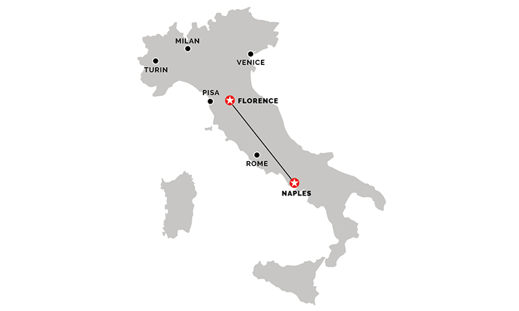Train from Florence to Naples