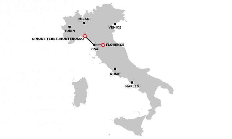 Train from Florence to Monterosso (Cinque Terre)