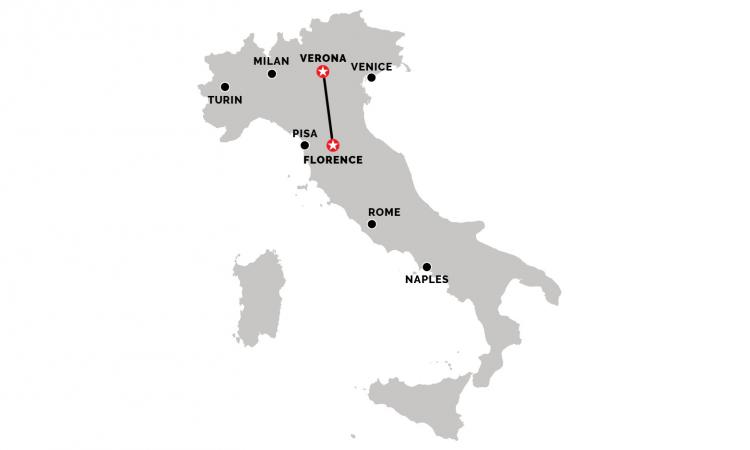 Train from Florence to Verona