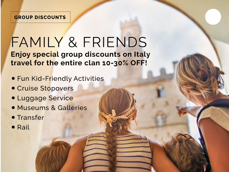 family travel discounts in italy