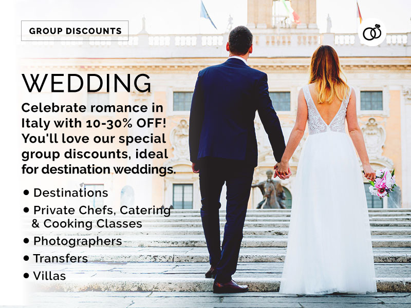 wedding travel discounts in italy