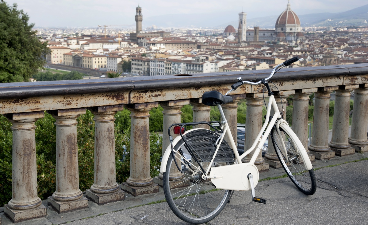 Florence Bike. Bike through Florence, Italy.