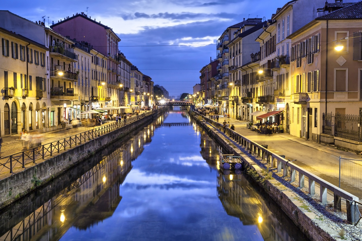 off the beaten path, Milan. Naviglio grand canal, Milan.