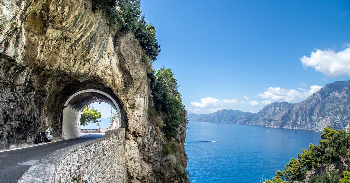 The road to Amalfi is just as scenic as Amalfi is.