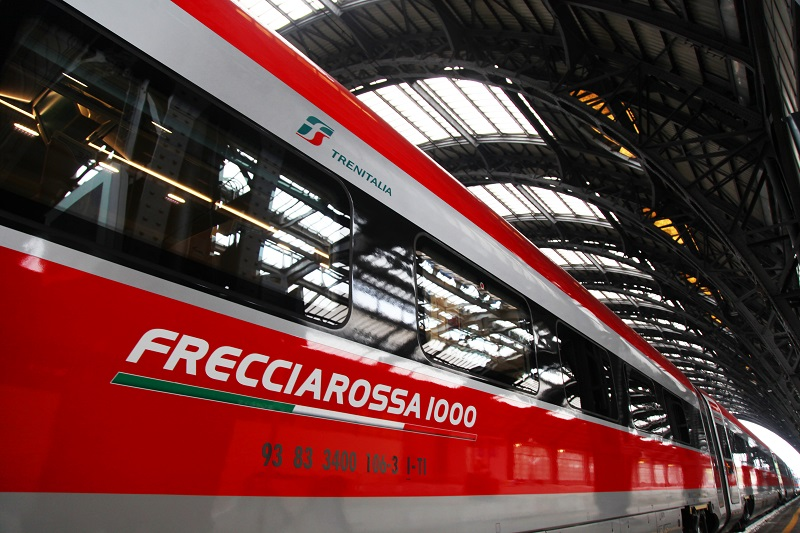 Freciarossa ETR-1000 Trenitalia High-Speed Train