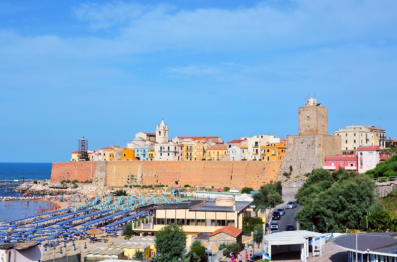 Panorama of Termoli, Molise, Italy