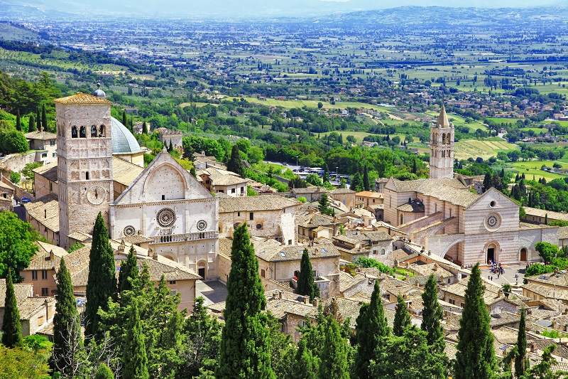 Medieval town of Assisi, Umbria, Italy