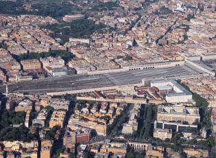Travelling in Italy from Rome. Termini station, Rome