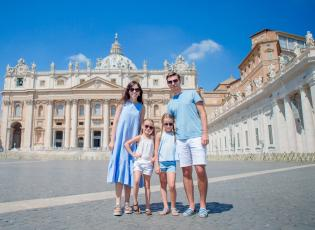 family tour of Vatican, Rome.