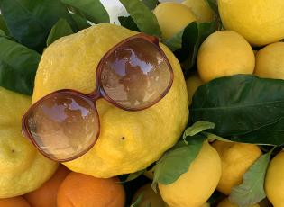 Amalfi lemon, featuring sunglasses