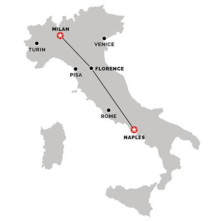 Train from Naples to Milan
