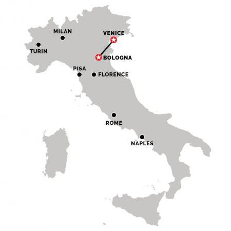 Train from Venice to Bologna