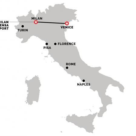 Train from Milan Malpensa Airport to Venice