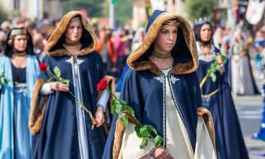 The medieval parade in Alba.