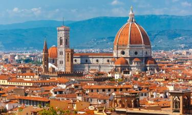 cityscape of the Duomo in Florence. Landscape of Florence.
