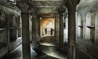 The roman catacombs.
